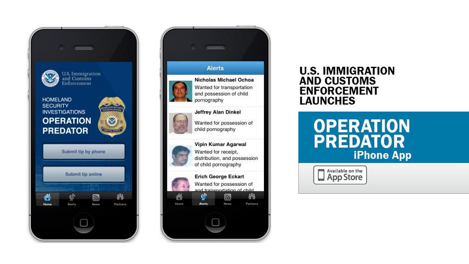 ICE smartphone app designed to locate child predators and rescue their victims (Video)